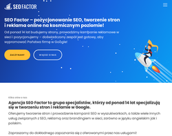 Screenshot of the SEO Factor London homepage