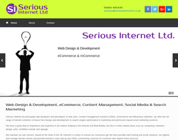 Screenshot of the Serious Internet Ltd homepage