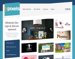 Screenshot of the Seven Pixels homepage