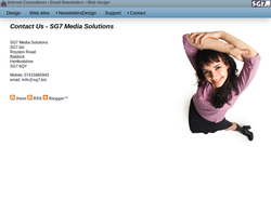 Screenshot of the SG7 Web Solutions homepage