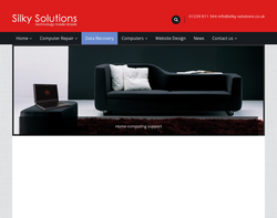 Screenshot of the Silky Solutions homepage