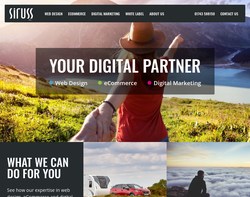 Screenshot of the Siruss Ltd homepage