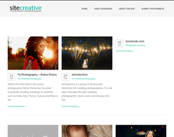 Screenshot of the Site Creative homepage