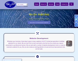 Screenshot of the SLP IT Limited homepage