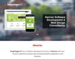 Screenshot of the Snapdragon IT homepage