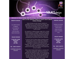 Screenshot of the Solace Design homepage