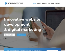 Screenshot of the Solid Designs homepage