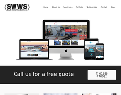 Screenshot of the South Wales Web Solutions homepage