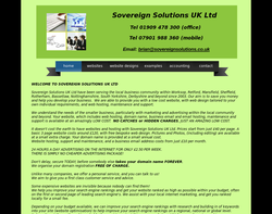 Screenshot of the SOVEREIGN SOLUTIONS UK LTD homepage