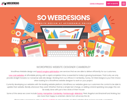 Screenshot of the SO Web Designs homepage