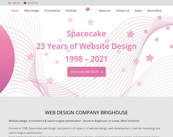Screenshot of the Spacecake homepage