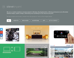 Screenshot of the Steve Bryant homepage
