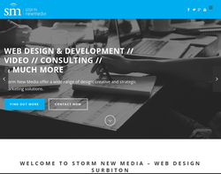 Screenshot of the Storm New Media homepage