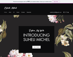 Screenshot of the Suheli Michel homepage