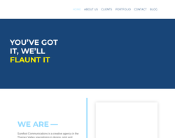 Screenshot of the Surefoot Communications homepage