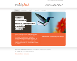 Screenshot of the Swish Pixel Web Design homepage