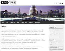 Screenshot of the Tagware Limited homepage