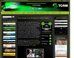 Screenshot of the TCRM  homepage