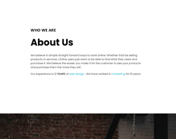 Screenshot of the Techomatic Web Services homepage