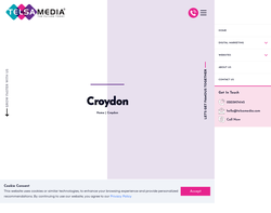 Screenshot of the Website Design Croydon homepage