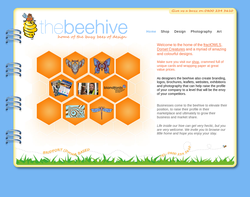 Screenshot of the Beehive Design homepage