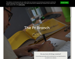 Screenshot of the The Creative Branch homepage
