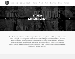Screenshot of the The Design Department homepage