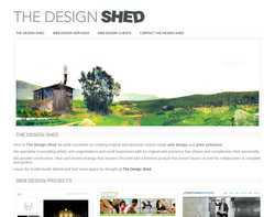 Screenshot of the The Design Shed homepage