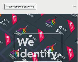 Screenshot of the The Unknown Creative homepage