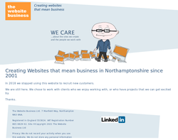 Screenshot of the The Website Business homepage