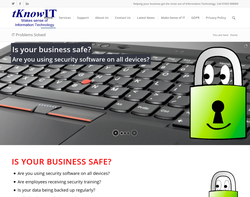 Screenshot of the tKnowIT Limited homepage
