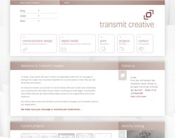 Screenshot of the Transmit Creative Ltd homepage