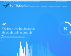 Screenshot of the Turtle Media & Marketing Ltd - Stephen McConville homepage