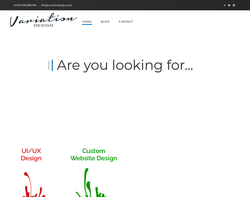 Screenshot of the Variation Design Consultants homepage