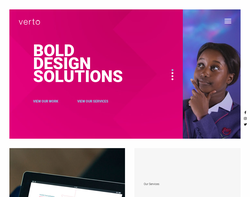 Screenshot of the Verto LTD homepage