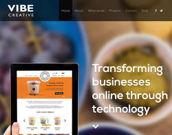 Screenshot of the Vibe Creative homepage