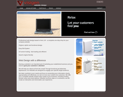 Screenshot of the Visigen homepage