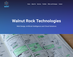 Screenshot of the Walnut Rock Technologies homepage