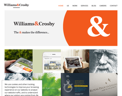 Screenshot of the Williams & Crosby homepage