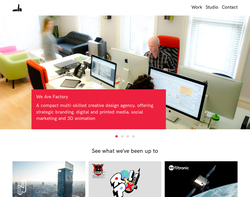 Screenshot of the Type In Motion Ltd homepage