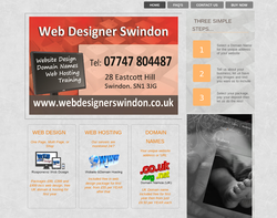 Screenshot of the Web Designer Swindon homepage