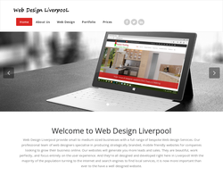 Screenshot of the Web Design Liverpool homepage