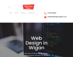 Screenshot of the Web Design in Wigan homepage