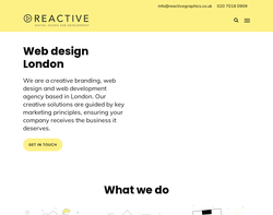 Screenshot of the Web Design London homepage
