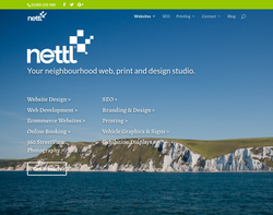 Screenshot of the Nettl of Weymouth homepage