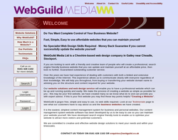 Screenshot of the WebGuild Media Ltd homepage