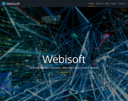 Screenshot of the Webisoft homepage