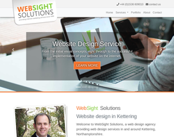 Screenshot of the WebSight Solutions homepage