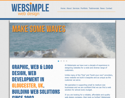 Screenshot of the Websimple Web Design homepage