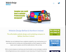 Screenshot of the Web Design Belfast homepage